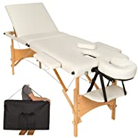 TecTake Table de massage 3 zones pliante cosmetique lit de massage portable + housse de transport - diverses couleurs au choix -