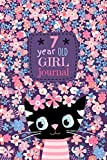7 Year Old Girl Journal: Happy Birthday Notebook Wide Ruled and Blank Framed Sketchbook, Cute Cat Diary for Kids to Keep Memories, Draw and Sketch, 50 sheets/100 pages, 6' x 9' Soft Cover