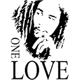Bob Marley One Love Pvc Diy Vinyl Mural Wall Sticker Removable Art Decals Home Decor Poster Window by ASTrade