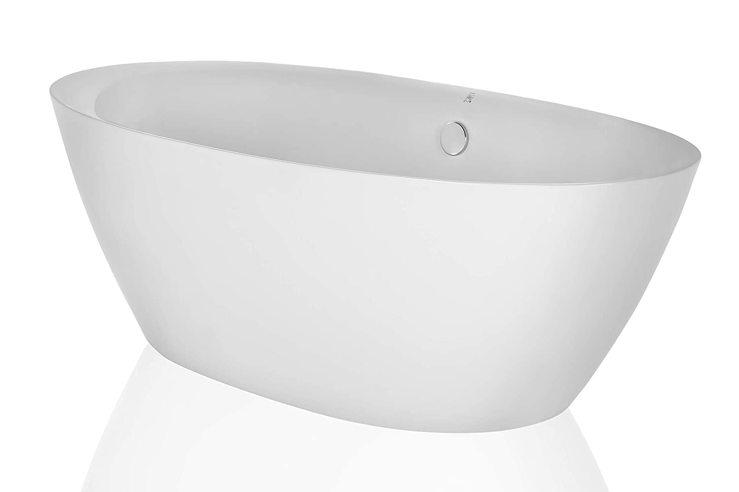 Empava 71 Luxury Freestanding Bathtub Soaking SPA Tub by Empava Modern Stand Alone Bathtubs with Custom Contemporary Design EMPV-FT1503