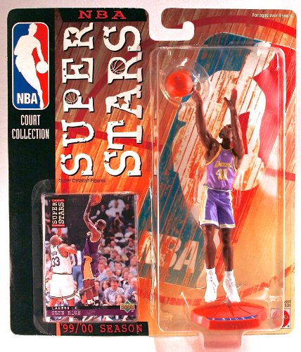 LES LAKERS * 99/00 Season * NBA SUPER STARS Super Detailed Figure, Display Base & Exclusive Upper Deck Collector Trading Card ()