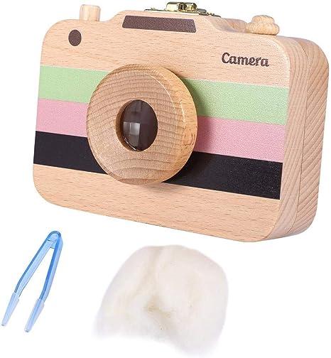 Caja de almacenamiento de madera, estuche lindo de la cámara del ...