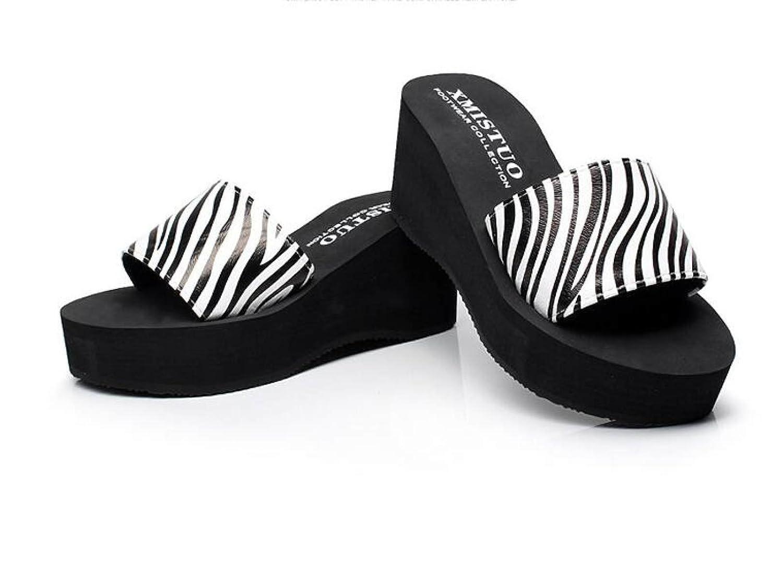 GSHGA New Cool Hausschuhe Sommer Weibliche Plattform Flip Flops Strand Schuhe Rutschfeste Sandalen