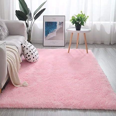 Soft Faux Fur Rug Living Room Carpet Faux Rabbit Fur Round Floor Bedroom Mats