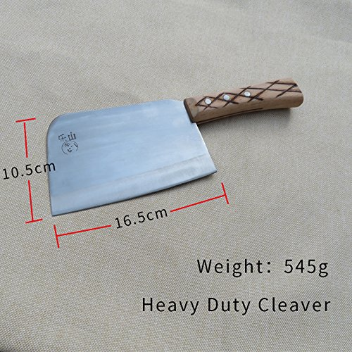 Forged Mdnually 7 Inch Stainless Steel Heavy-Duty Cleaver Cut bone knife by hand and chopping bone knife