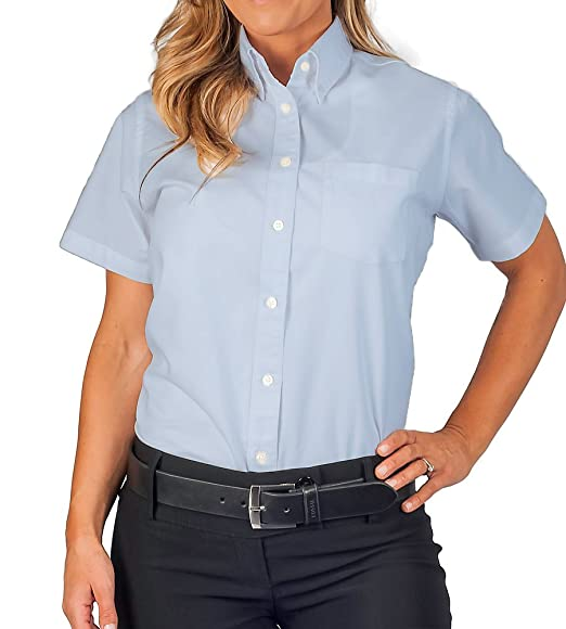 8f41abbf3d6a1 Amazon.com  Womens Short Sleeve Oxford Shirt  Clothing
