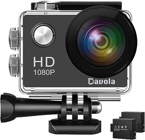 Amazon.com: Cámara de acción Davola 1080P WiFi cámara ...
