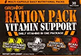 vitamin packs for men - Grenade Ration Pack, Multi-Vitamins with added Probiotics and BCAAs to support High-Intensity Training, 30 Count