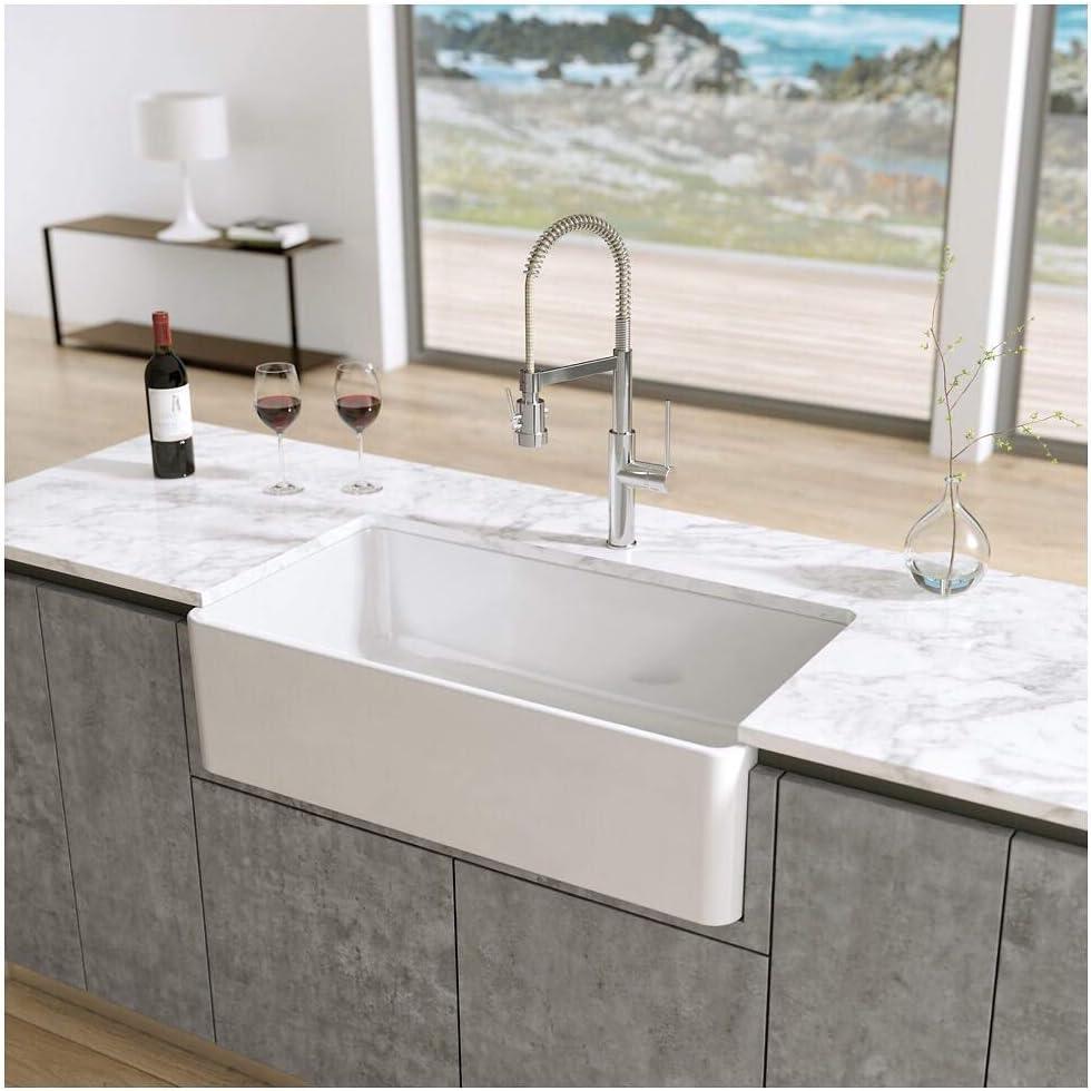 Latoscana 33 Reversible Fireclay Farmhouse Sink Lfs3318w Amazon Com