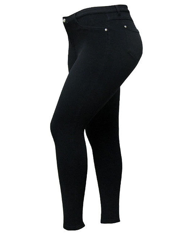 1826 HOT PINK Moleton High Waist Womens Plus Size Skinny Stretch Cotton Pants