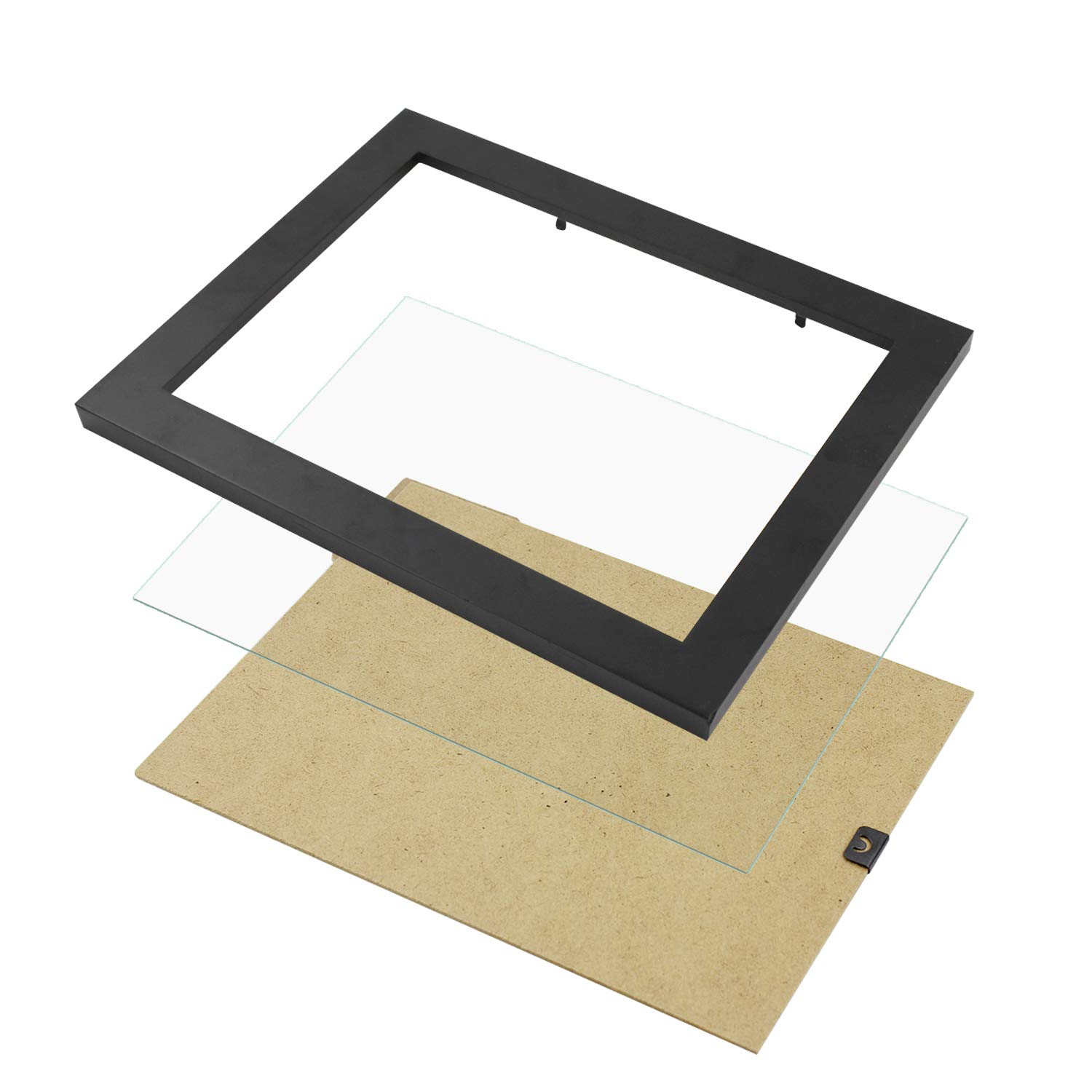 Diswoe 6x8 Black Picture Frame Made of Solid Wood with Mat to Display Pictures Photo Frame for Wall & Tabletop - Wall Mounting Material Included by Diswoe (Image #5)