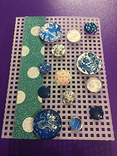 Resin Chinese Dragon and Blue Designs, Resin Rhinestone Tacks, Lacquer Painted Tacks, Memo Board, Bulletin/Cork Board, Hostess Gifts