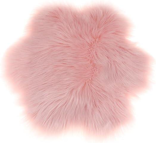 Flower Mat Faux Fur Sheepskin Rug