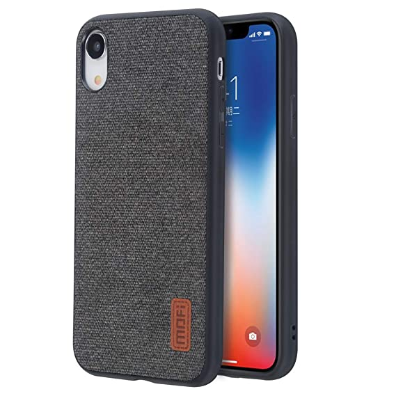 timeless design f4dac 2b052 iPhone xr Case,Anti-Scratch Shock-Absorbing Fabric Business Men Covers with  Silicone Soft Edges and Great Grip, Fully-Protective and Compatible for ...