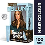 BBLUNT Salon Secret High Shine Creme Hair Colour, Honey Light Golden Brown 5.32, 100g with Shine Tonic, 8ml