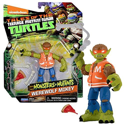 TMNT Year 2017 Tales of Teenage Mutant Ninja Turtles Monsters + Mutants Series 5 Inch Tall Figure - WEREWOLF MIKEY with Bone Nunchucks and Pizza Slice ()
