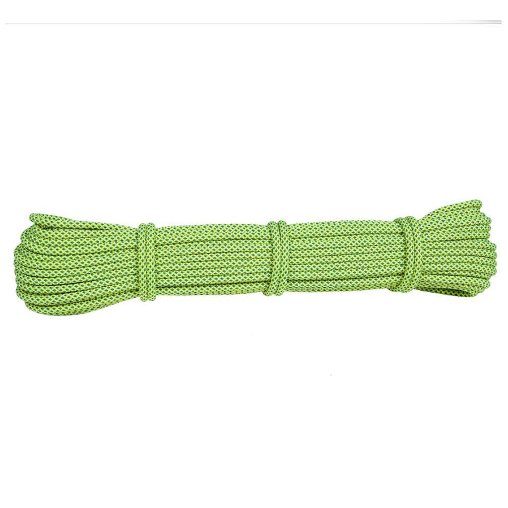 ロープ(張り綱) 屋外クライミングロープ直径-6mm、蛍光緑10m、15m、20m、25m、30m、35m、40m、45m、50m探査救助ロープバインディングロープ、高強度シルクポリエステルロープ。 (サイズ さいず : 50m) 50m  B07JDM6SZD