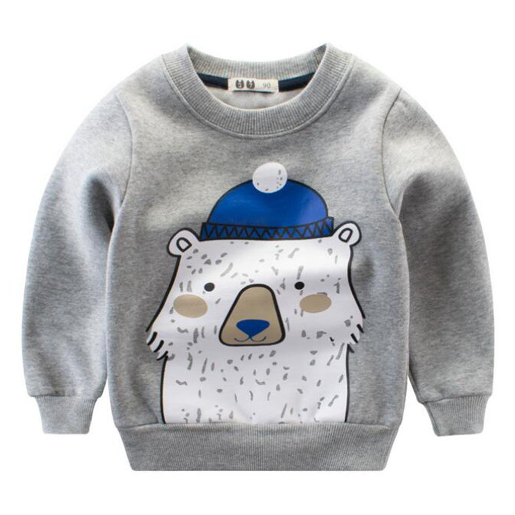 Meedot Baby Boys Winter Clothes, Cotton Cute Dinosaur Sweater Long Sleeve Warm Sweatershirt Hoodies for Age 2-7 Years Old Kids M171113ETWY01-MT