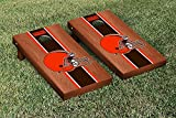 "NFL Cleveland Browns Rosewood Stained Stripe Version Football Cornhole Game Set, 24"" x 48"", Multicolor"