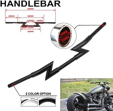 Black Motorcycle 1 inch Drag Bars Handlebar Z Bar For Harley Davidson Sportster Softail Bobber Dyna Chopper Triumph Honda Yamaha Cruisers Suzuki Kawasaki
