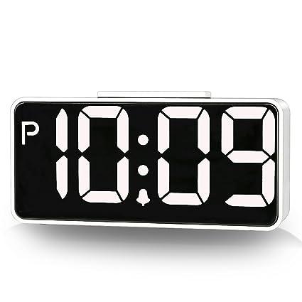 Reloj despertador digital de ZHPUAT, de 22 cm, para la mesilla de noche,