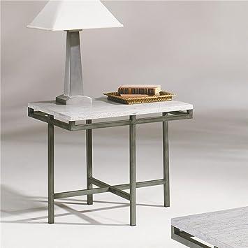 Amazoncom Hammary East Park Rectangular End Table In Gunmetal - East park coffee table