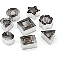 UTSAUTO Stainless Steel Cookie Biscuit Cutter Set Cookie Cutters Rectangle Square Heart Triangle Round Tiny Circle…