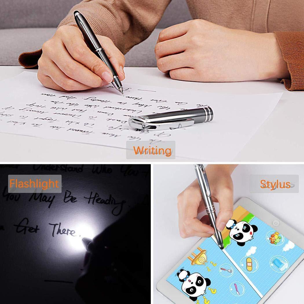 fnemo Penna illuminata Funzione 3 in 1 Penna Tecnica Penne Luminose con Penna Stilo Light Touch a LED per Scrivere nelloscurit/à