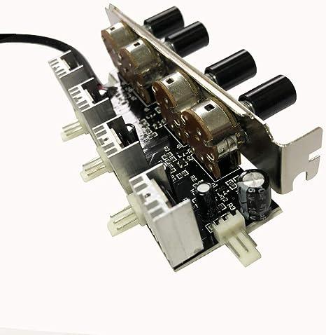 Bykski - Controlador de Velocidad de Ventilador de 12 V para PC (4 ...
