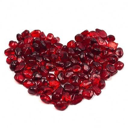 Acuario Piedra Decoración omem Big rojo piedra de cristal, Acuario Peces Tanque Grava decoración,