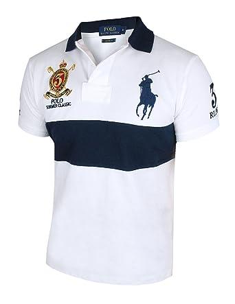 huge discount b893f c8f9c Ralph Lauren Herren kurzarm Poloshirt Custom Fit W1A1A/B