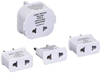 Amazon.com: Travel Smart by Conair Polarized Adapter Plug 4-Piece ...