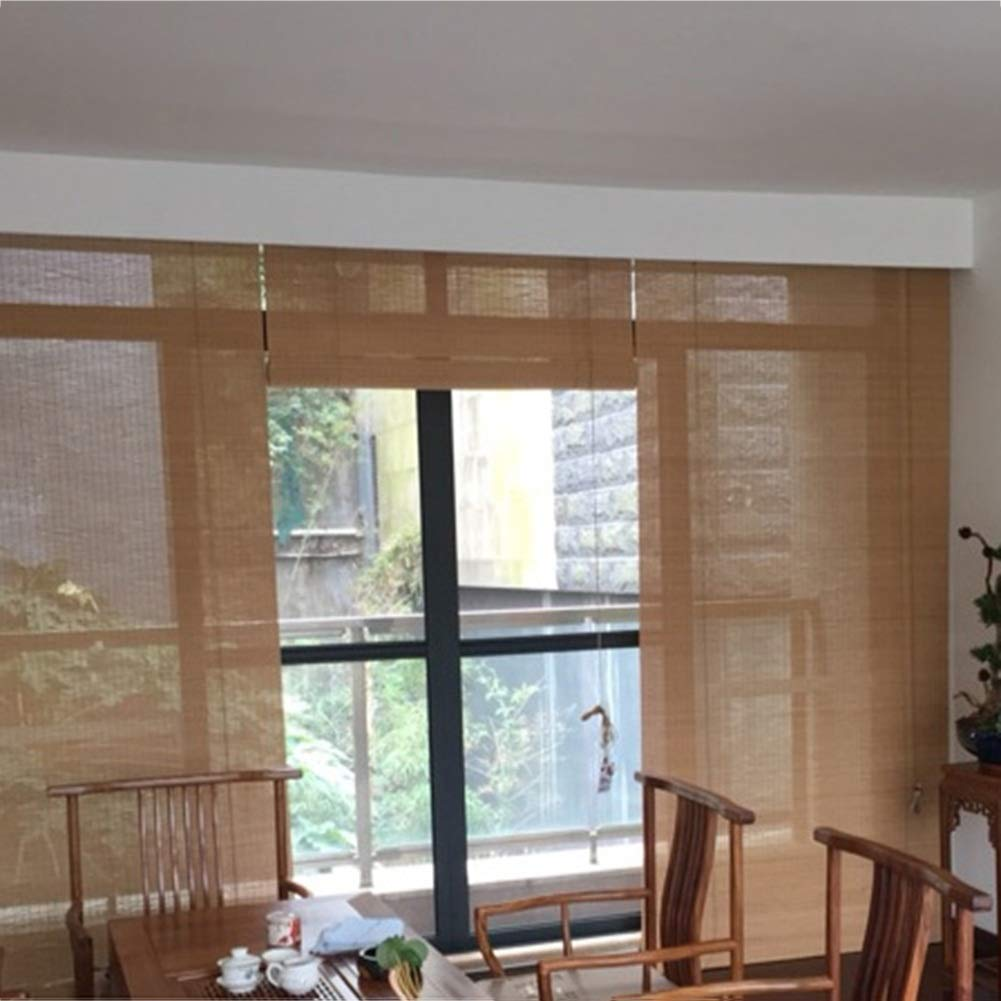 3 Colors WENZHE Roller Blind Bamboo Curtain Blinds Outdoor Indoor Waterproof Durable Home Bamboo Internal//External Installation Color : Bamboo Color, Size : 45x150cm Size Customizable