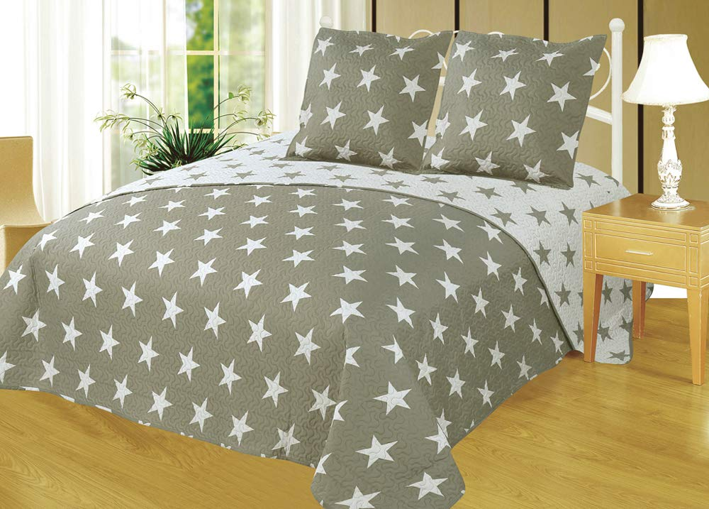 Colcha Boutí Reversible+Cuadrantes Estrellas (1750, 180x260+1 cuadrante (para cama de 90)): Amazon.es: Hogar