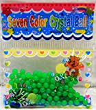 2.5g Pearl Shaped Water Gel Décor Flower Balls Green (Pack of 2)
