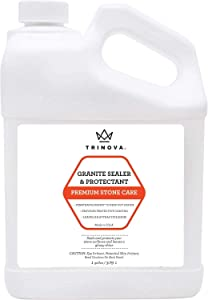 TriNova Granite Sealer & Protector Gallon Refill- Made in USA, Best Stone Polish, Protectant & Care Product - Easy Maintenance for Clean Countertop Surface, Marble, Tile