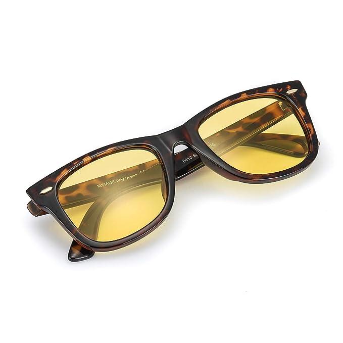 Myiaur Gafas De Sol Amarillas Conducir Nocturnas para Mujer ...