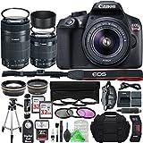 Canon EOS Rebel T6 Digital SLR Camera with 18-55mm EF-S f/3.5-5.6 IS II Lens & EF-S 55-250mm f/4-5.6 IS STM Lens + Professional Gold Bundle