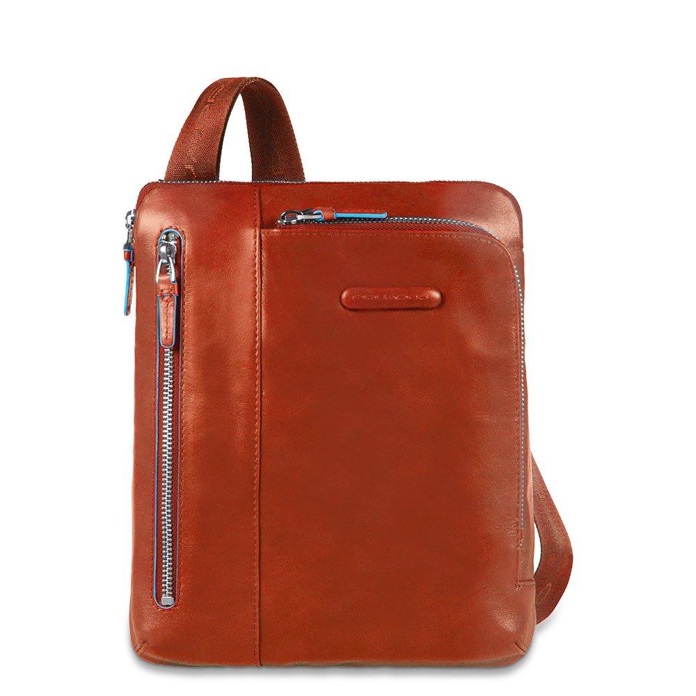 Piquadro iPad Shoulder Pocket Bag with Pocket For MP3 Player, Orange, One Size