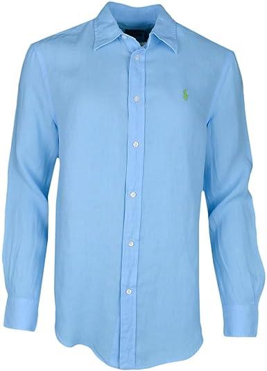 Ralph Lauren - Camisa para mujer, color azul turquesa azul XXS: Amazon.es: Ropa y accesorios