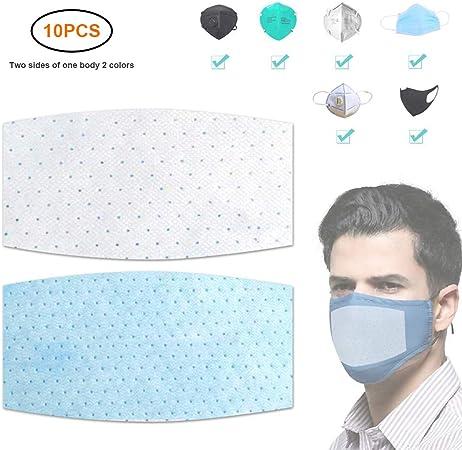 Le /ÉCharpe De Bon Confort pour Adult Anti-Poussi/ère Respirable Jetable Earloop Bouche /ÉCharpe De Visage 1 PCS /ÉCharpe Jetable+10 Filtres