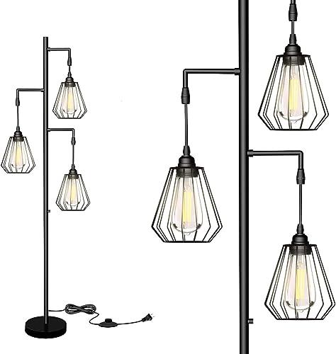 QiMH Teardrop LED Industrial Floor Lamp