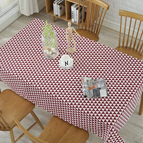 DOTBUY Raya Rectangle Mantel de Lino de algodón Antimanchas, Color Puro Mantel Rectangular de para el Restaurante del Hotel de casa Restaurante, ...