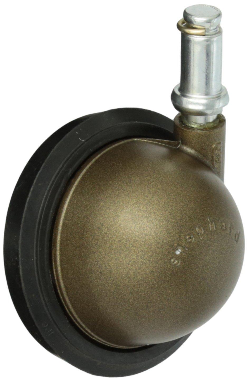 Shepherd Saturn Series 3' Diameter Rubber Wheel Swivel Ball Caster, 7/16' Diameter x 7/8' Length Grip Ring Stem, 100 lbs Capacity, Windsor Antique Finish 7/16 Diameter x 7/8 Length Grip Ring Stem Shepherd Caster Corporation 103919