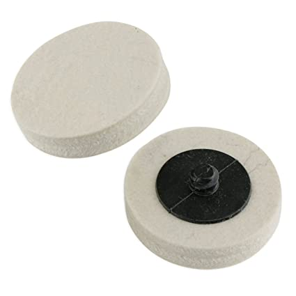 2quot Roloc Compressed Wool Polish Buff Wheel Pad