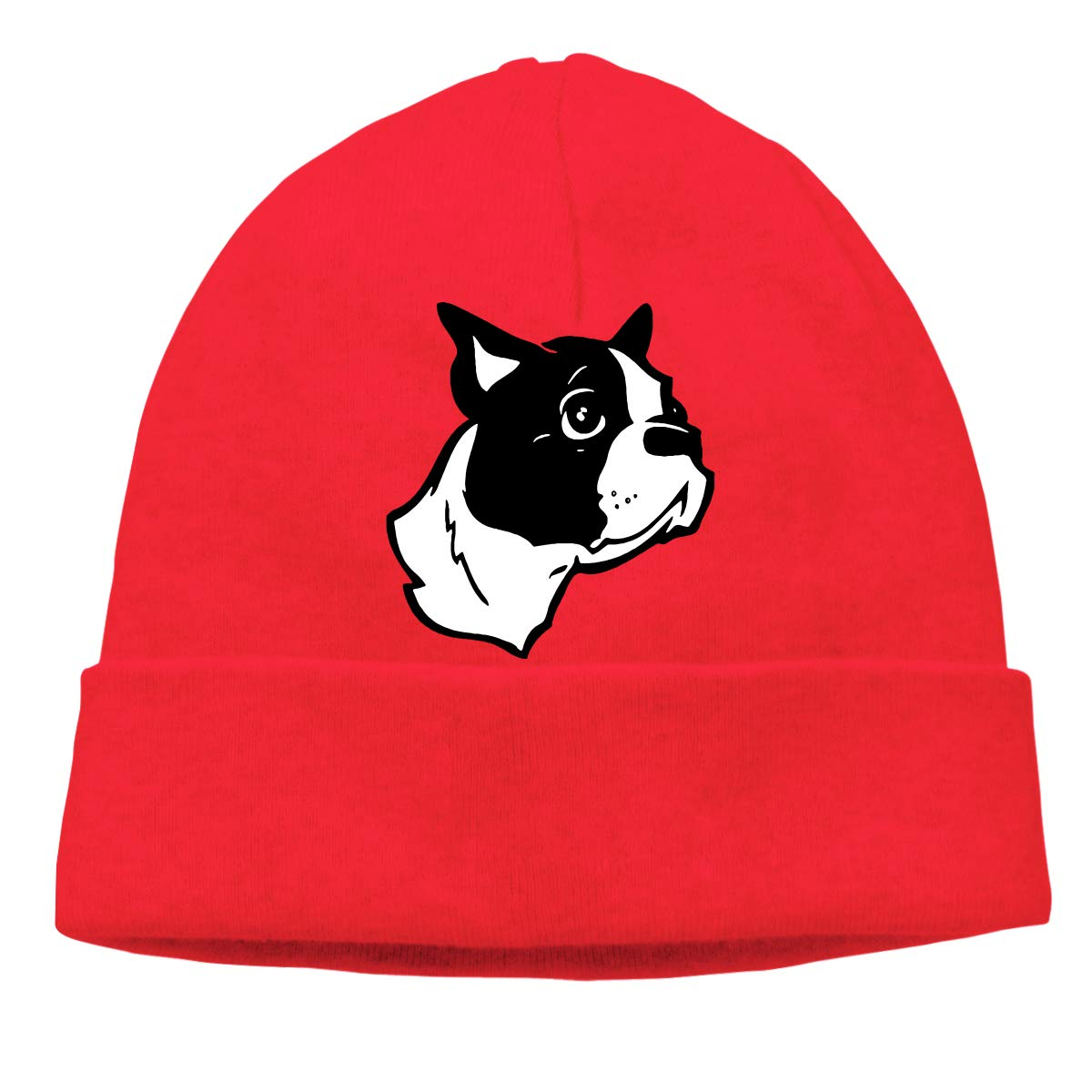 BF5Y3z/&MA Mens and Womens Boston Terrier Dog Knit Cap Comfortable Beanies Cap