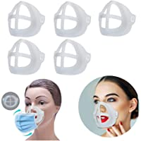 Diagtree 5 Pcs Face Mask Inner Support Frame Homemade Cloth Mask Cool Silicone Bracket More Space for Comfortable…