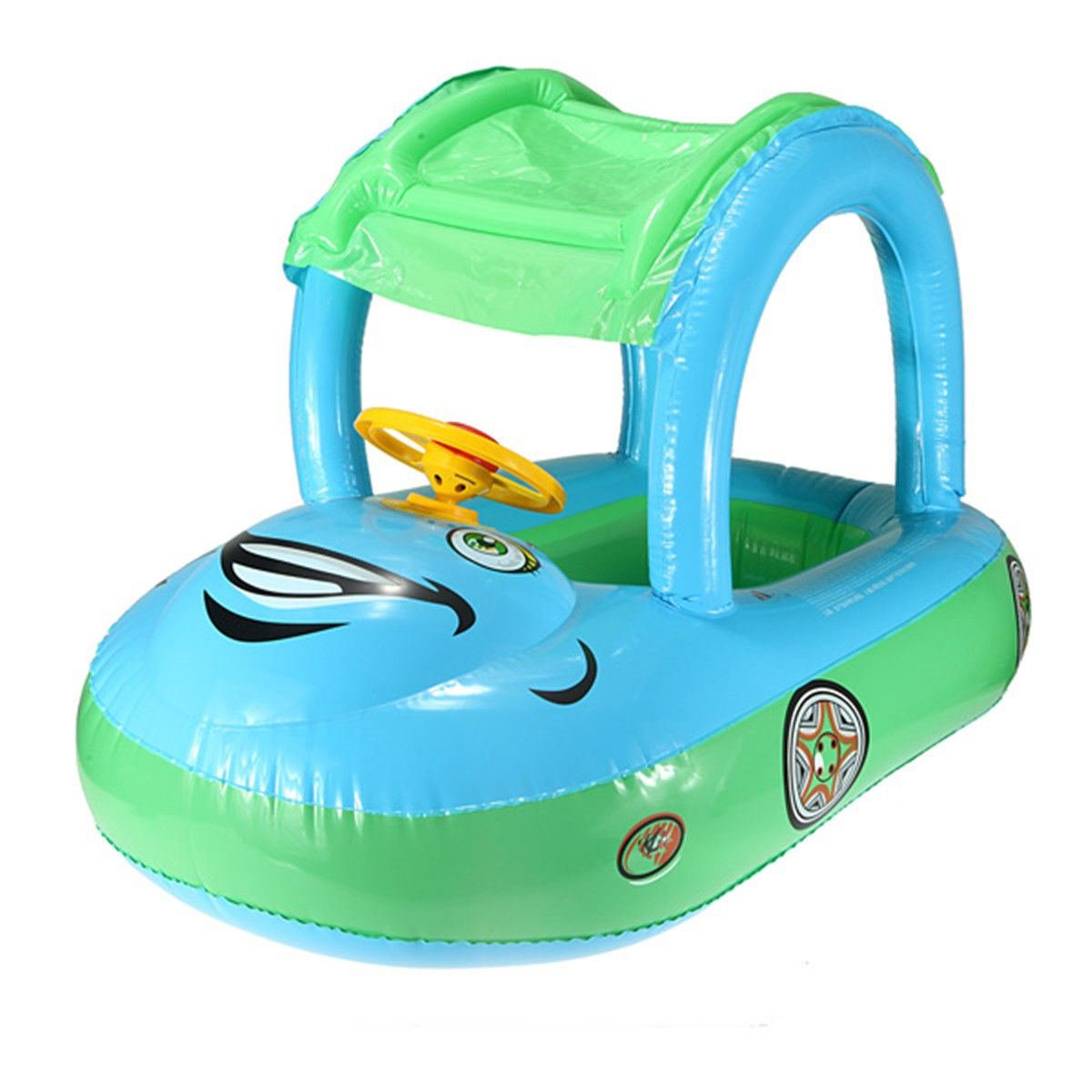 Amazon.com: Inflatable Baby Float Seat Boat Tube Ring Car Sun Shade ...