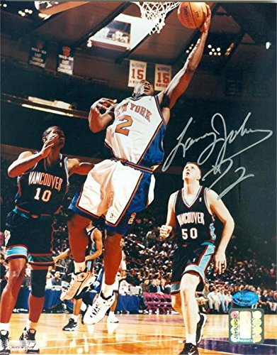 newest a256e abf35 Signed Larry Johnson (NBA) Photo - 8x10 2x All Star JCP ...