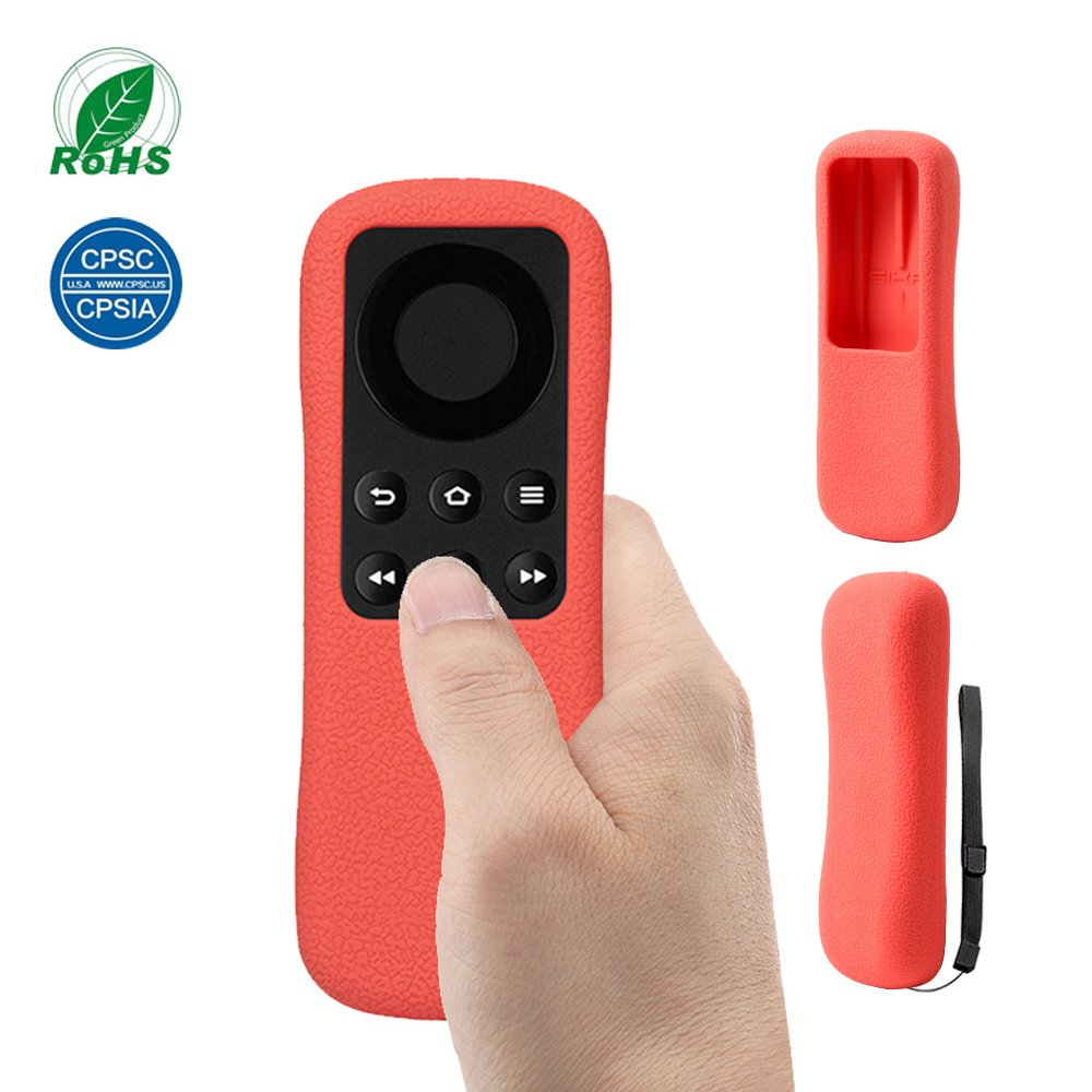 Fire TV Stick Remote Case SIKAI Silicone Shockproof Protective Cover For Fire TV Stick Remote Anti-Slip Skin-Friendly Washable Dust-proof Anti-Lost With Hand Strap (Black) SIKAICASE